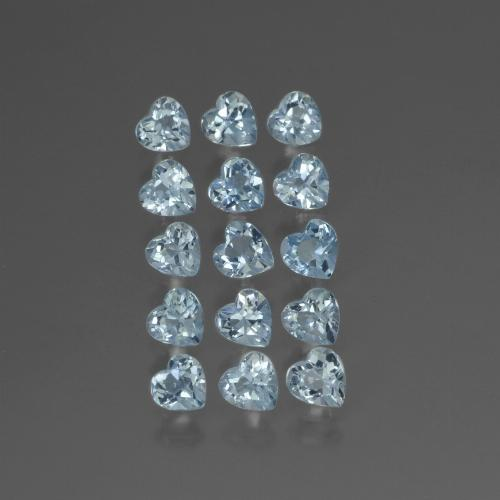 Swiss Blue Topaz Gem - 0.3ct Heart Facet (ID: 430528)