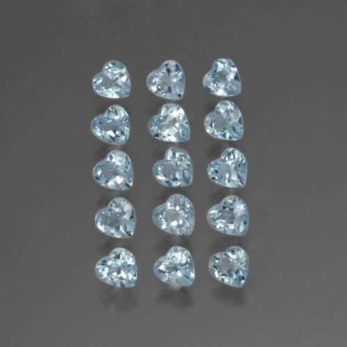 Swiss Blue Topaz Gem - 0.3ct Heart Facet (ID: 430535)