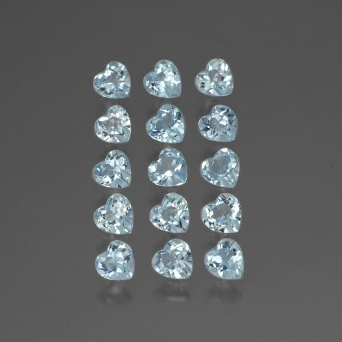 Light Maya Blue Topacio Gema - 0.3ct Forma de corazón (ID: 430536)