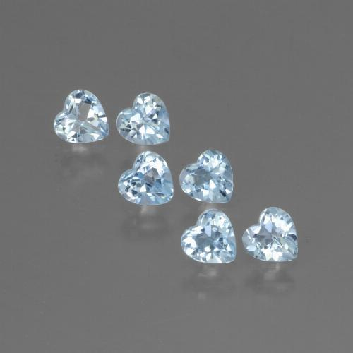 Swiss Blue Topaz Gem - 0.3ct Heart Facet (ID: 430576)