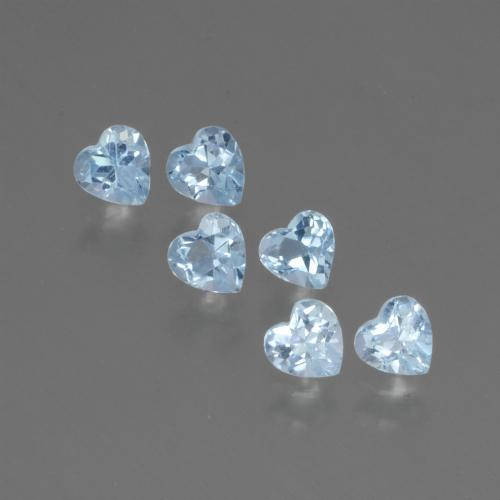 Swiss Blue Topaz Gem - 0.3ct Heart Facet (ID: 430584)