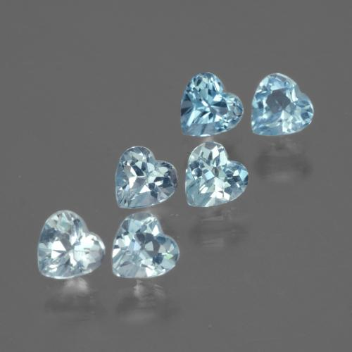 Swiss Blue Topaz Gem - 0.3ct Heart Facet (ID: 430747)