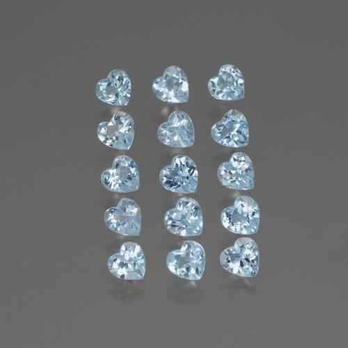 Swiss Blue Topaz Gem - 0.3ct Heart Facet (ID: 430847)