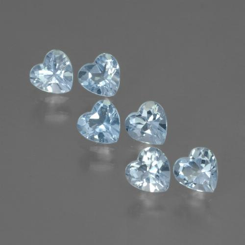 Swiss Blue Topaz Gem - 0.3ct Heart Facet (ID: 430909)