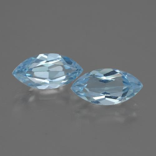 Swiss Blue Topaz Gem - 2.3ct Marquise Facet (ID: 432500)