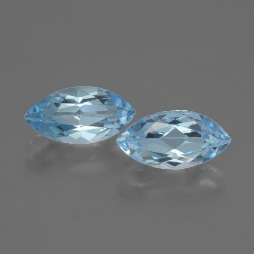 Swiss Blue Topaz Gem - 2.4ct Marquise Facet (ID: 432503)