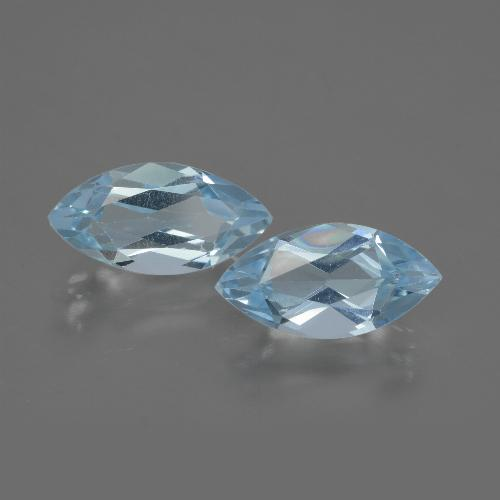 Swiss Blue Topaz Gem - 2.2ct Marquise Facet (ID: 432505)