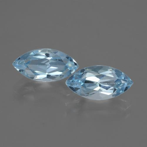 Swiss Blue Topaz Gem - 2.6ct Marquise Facet (ID: 432506)