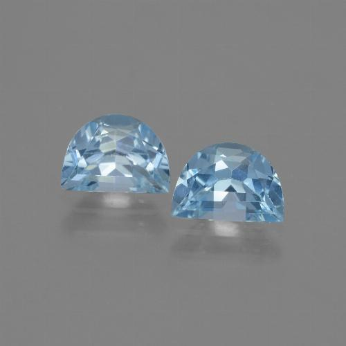 Swiss Blue Topaz Gem - 1ct Fancy Facet (ID: 432534)