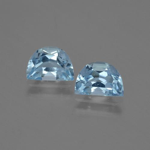 Swiss Blue Topaz Gem - 1.1ct Fancy Facet (ID: 432535)