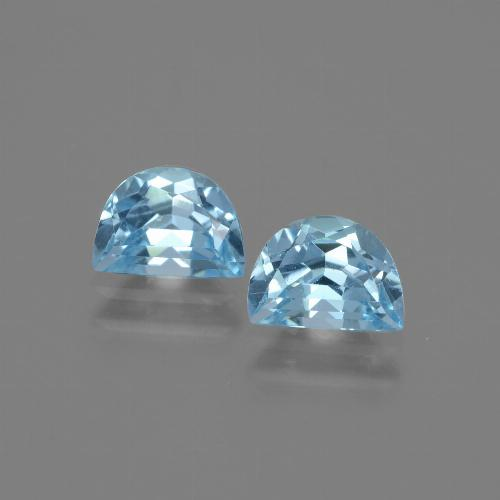 Swiss Blue Topaz Gem - 1ct Fancy Facet (ID: 432538)