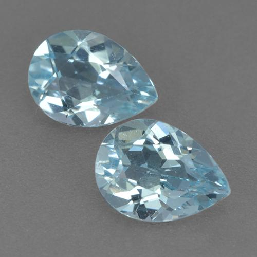 Swiss Blue Topaz Gem - 0.9ct Pear Facet (ID: 432624)