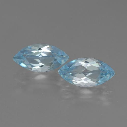 Swiss Blue Topaz Gem - 2.4ct Marquise Facet (ID: 432663)