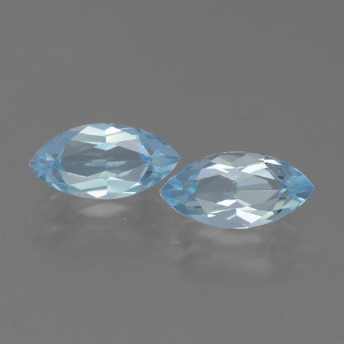 Swiss Blue Topaz Gem - 2.4ct Marquise Facet (ID: 432665)