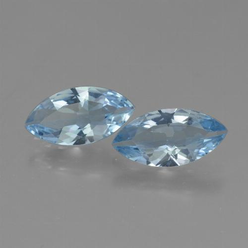 Swiss Blue Topaz Gem - 1.8ct Marquise Facet (ID: 432666)