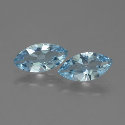Swiss Blue Topaz Gem - 1.8ct Marquise Facet (ID: 432667)
