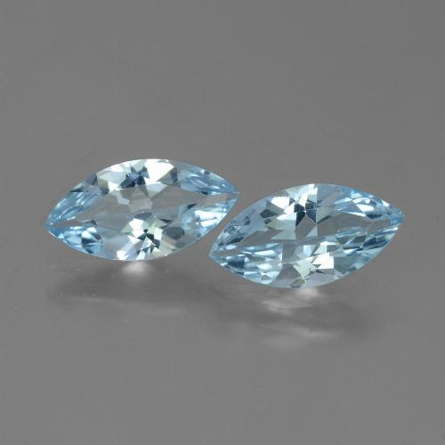 Sky Blue Topaz Gem - 1.8ct Marquise Facet (ID: 432669)