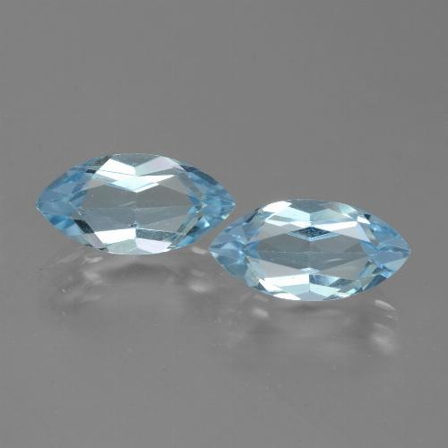 Swiss Blue Topaz Gem - 2.4ct Marquise Facet (ID: 432672)