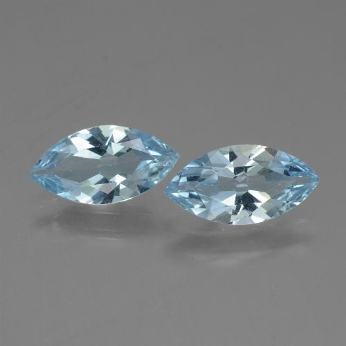 Baby Blue Topaz Gem - 1.8ct Marquise Facet (ID: 432674)