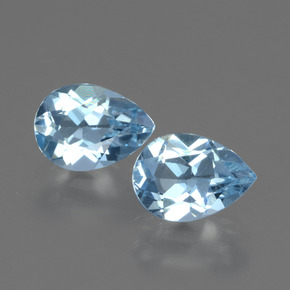 Baby Blue Topaz Gem - 0.9ct Pear Facet (ID: 432701)