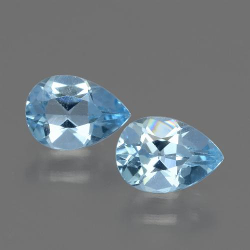 Baby Blue Topaz Gem - 0.8ct Pear Facet (ID: 432702)