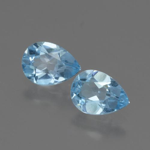 Swiss Blue Topaz Gem - 0.8ct Pear Facet (ID: 432706)