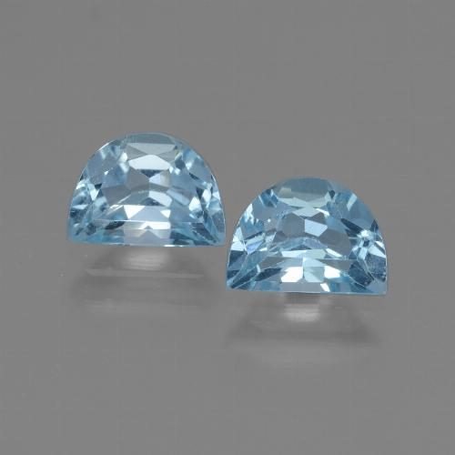 Swiss Blue Topaz Gem - 1ct Fancy Facet (ID: 432713)