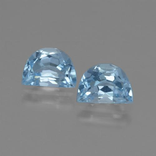 Light Blue Topaz Gem - 1ct Fancy Facet (ID: 432717)