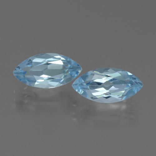 Swiss Blue Topaz Gem - 2.5ct Marquise Facet (ID: 432747)