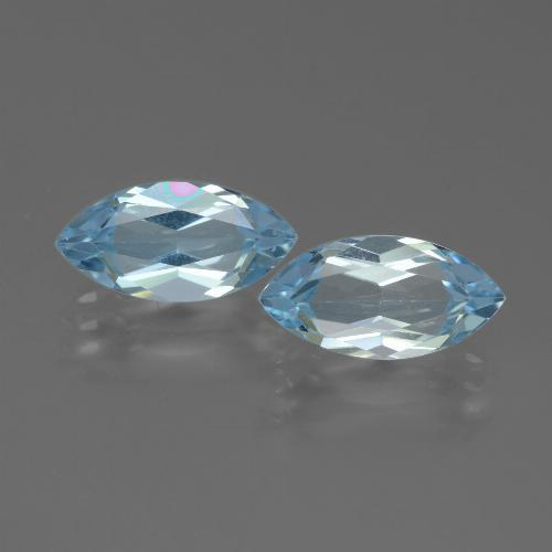 Swiss Blue Topaz Gem - 2.3ct Marquise Facet (ID: 432751)