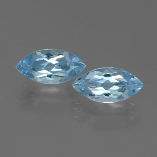 Swiss Blue Topaz Gem - 2.5ct Marquise Facet (ID: 432755)