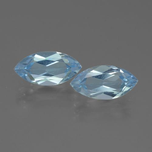 Swiss Blue Topaz Gem - 2.2ct Marquise Facet (ID: 432758)