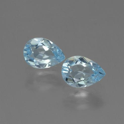 Swiss Blue Topaz Gem - 0.8ct Pear Facet (ID: 432788)