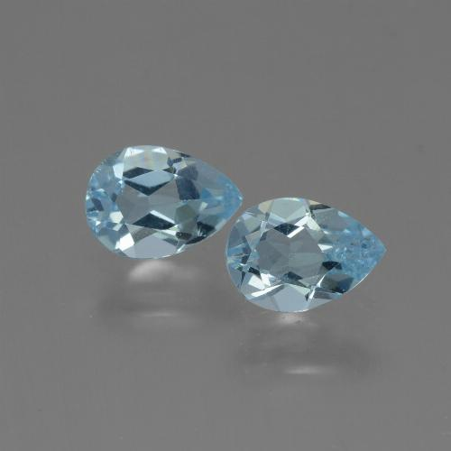Baby Blue Topaz Gem - 0.8ct Pear Facet (ID: 432791)