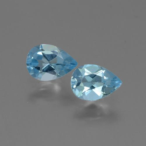 Baby Blue Topaz Gem - 0.8ct Pear Facet (ID: 432792)