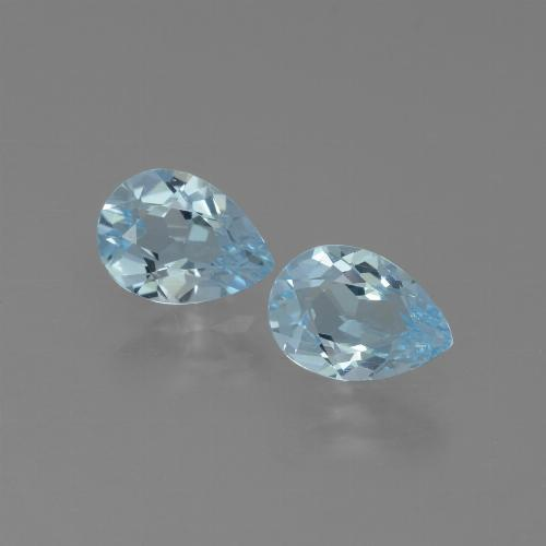 Swiss Blue Topaz Gem - 0.8ct Pear Facet (ID: 432844)