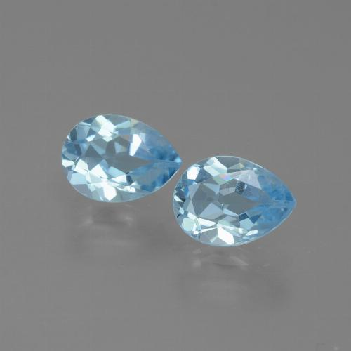 Swiss Blue Topaz Gem - 0.9ct Pear Facet (ID: 432847)