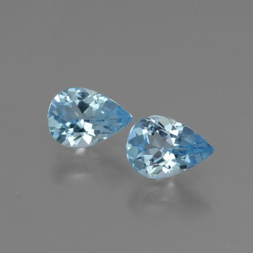 Baby Blue Topaz Gem - 0.8ct Pear Facet (ID: 432851)