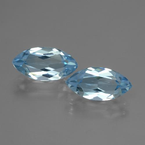 Swiss Blue Topaz Gem - 2.3ct Marquise Facet (ID: 432891)