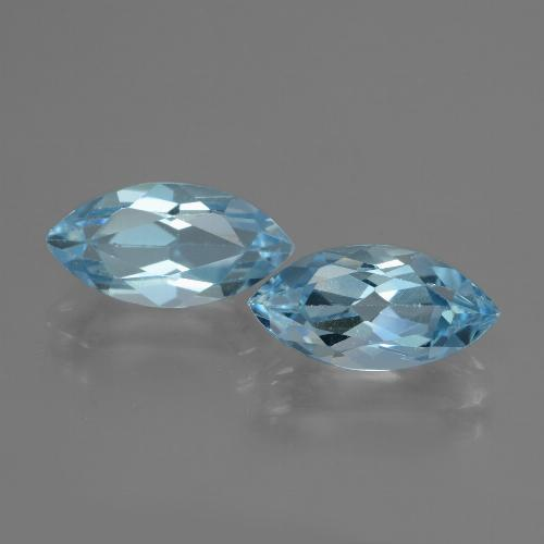 Swiss Blue Topaz Gem - 2.5ct Marquise Facet (ID: 432892)
