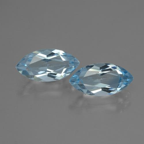 Baby Blue Topaz Gem - 2.2ct Marquise Facet (ID: 432893)