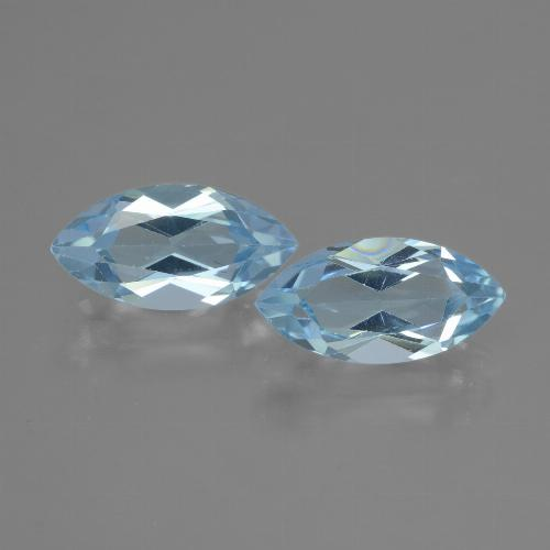 Baby Blue Topaz Gem - 2.2ct Marquise Facet (ID: 432895)