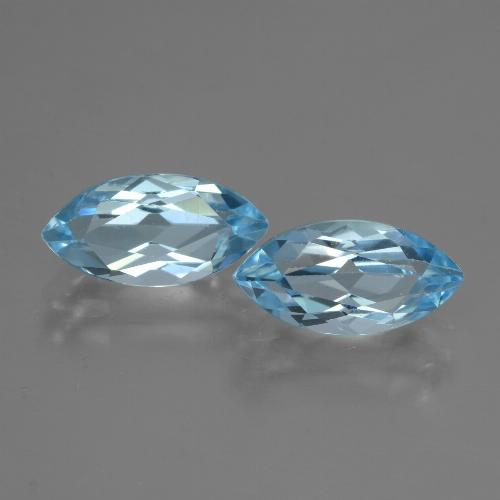 Swiss Blue Topaz Gem - 2.5ct Marquise Facet (ID: 432896)