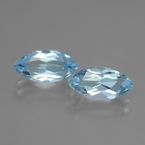 Swiss Blue Topaz Gem - 2.5ct Marquise Facet (ID: 432897)