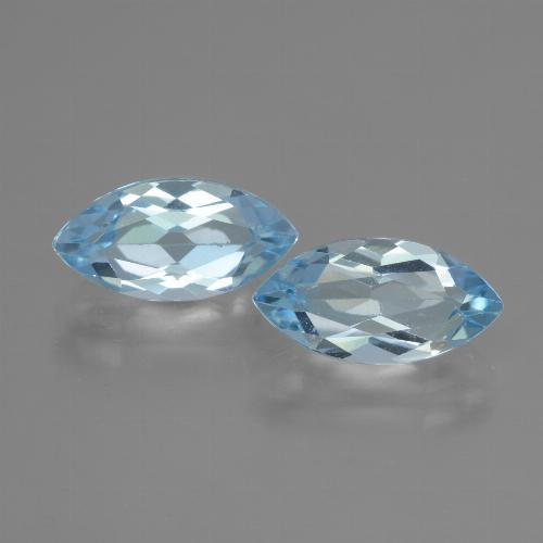 Swiss Blue Topaz Gem - 2.4ct Marquise Facet (ID: 432900)