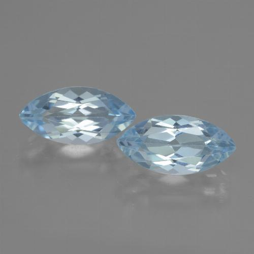 Swiss Blue Topaz Gem - 2.4ct Marquise Facet (ID: 432901)