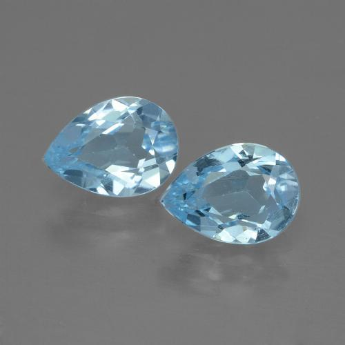 Swiss Blue Topaz Gem - 0.9ct Pear Facet (ID: 432917)
