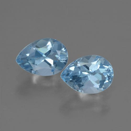 Baby Blue Topaz Gem - 0.9ct Pear Facet (ID: 432919)