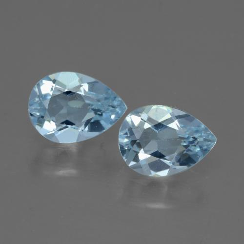 Swiss Blue Topaz Gem - 0.8ct Pear Facet (ID: 432925)