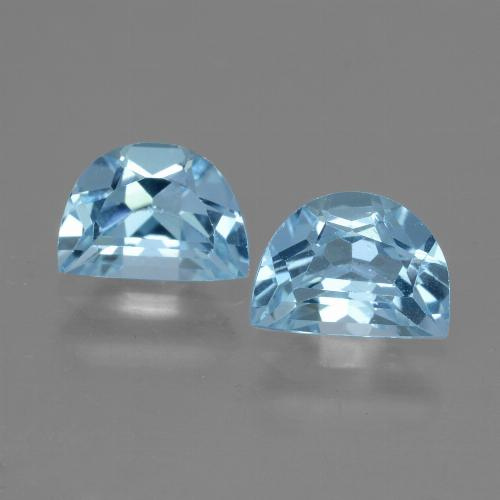 Swiss Blue Topaz Gem - 1.1ct Fancy Facet (ID: 432945)